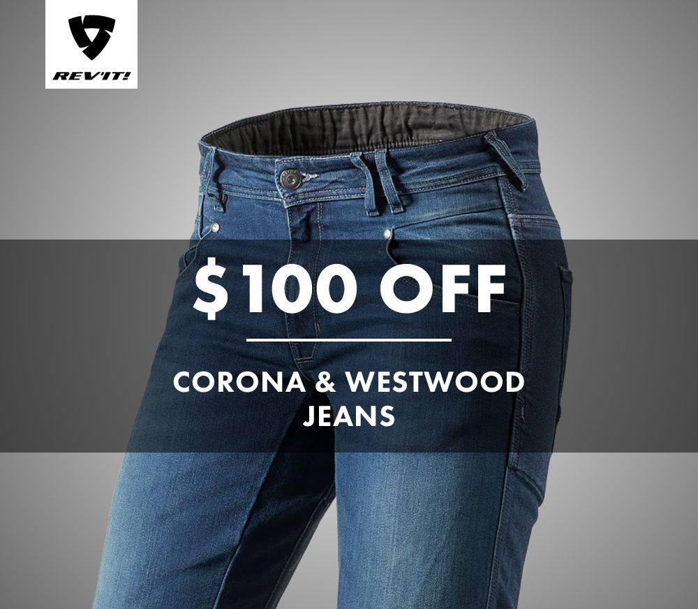 $100 off REVIT Corona and Westwood jeans