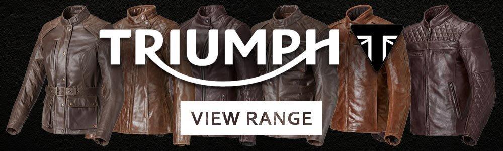 triumph leather gear