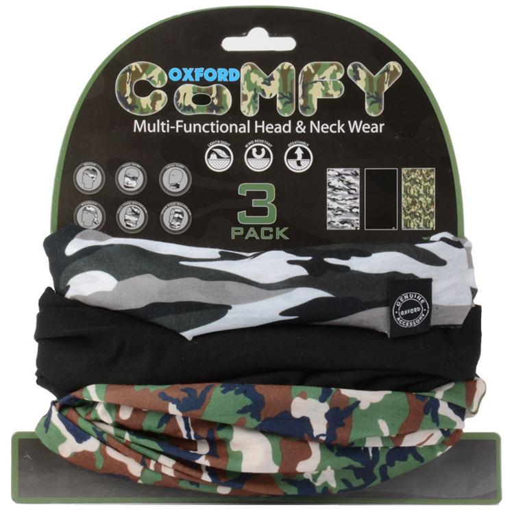 Oxford Comfy Style 3 Pack Headwear Style Snow