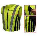 Rjays Premium Fitted Vest Hi Viz -mens road gear-Motomail - New Zealands Motorcycle Superstore