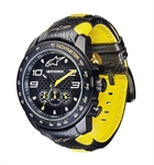 Alpinestars Tech Watch Race Chronograph Black/Yellow w/ Black/Yellow Leather Strap-latest arrivals-Motomail - New Zealands Motorcycle Superstore